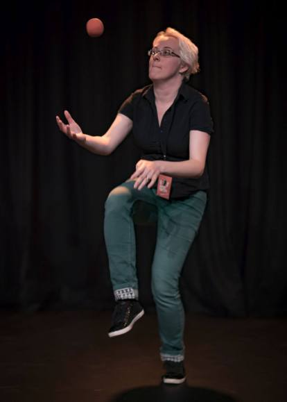 Photo by Ali Little - performing at NZ Improv Festival